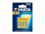 Varta batterijen Superlife AAA micro - 4 stuks