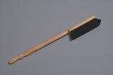 Handstoffer haarmix blank gelakt 60 cm Extra Lang