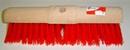 Gemeentebezem ronde kap rood kunstvezel 45 cm lang