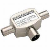 Coax splitter metaal radio