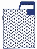 AFSTRIJKROOSTER KUNSTSTOF 27 x 29 cm. blauw