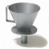 Koffiefilterhouder met tuit onderkant